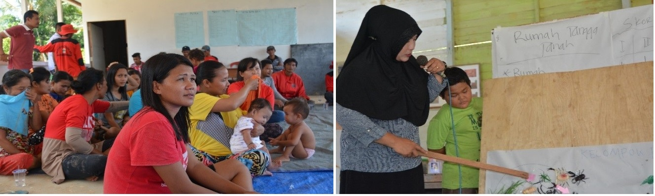 Women power: participating actively in our fire-free programmes in Kalimantan