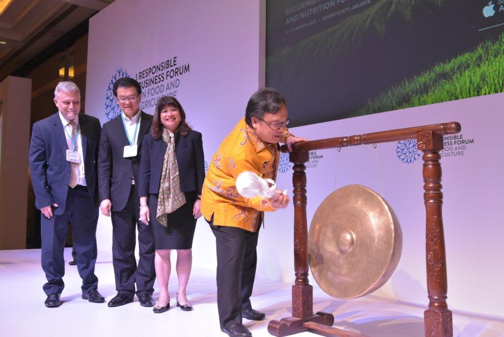 Bambang Brodjonegoro, Minister of National Development & Planning, Indonesia officiating RBF 2017